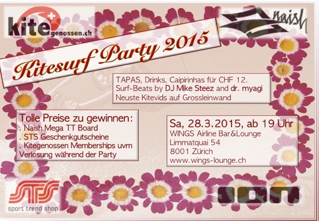 Flyer Kitesurf Party 2015